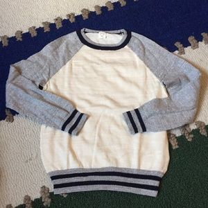 Crewcuts boys cotton sweater in cream/gray NWOTS 6